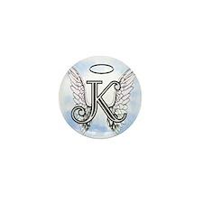 Letter K Monogram Mini Button