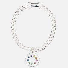 Paw Print Circle Bracelet