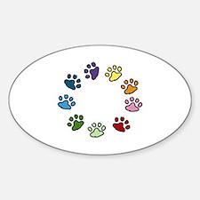 Paw Print Circle Decal