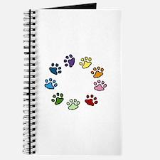 Paw Print Circle Journal