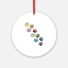 Paw Prints Ornament (Round)