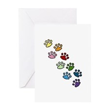 Paw Prints Greeting Cards
