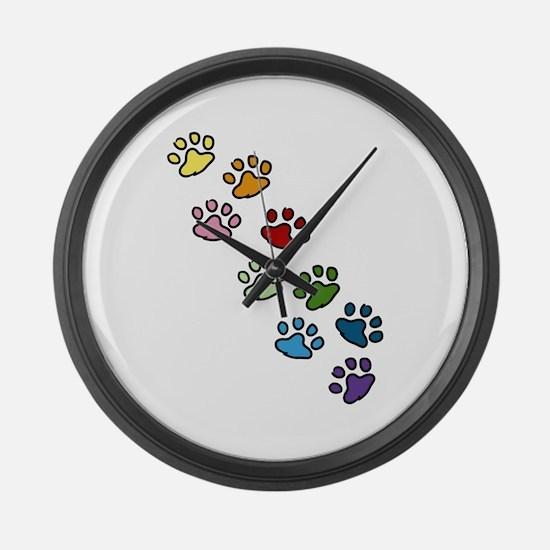 Paw Prints Large Wall Clock
