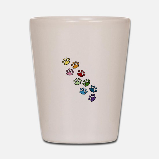 Paw Prints Shot Glass