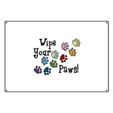 Wipe Your Paws Banner