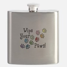 Wipe Your Paws Flask