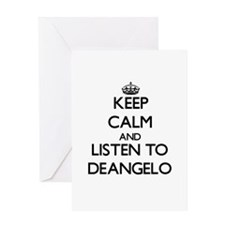 Keep Calm and Listen to Deangelo Greeting Cards