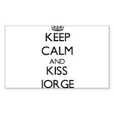 Keep Calm and Kiss Jorge Decal
