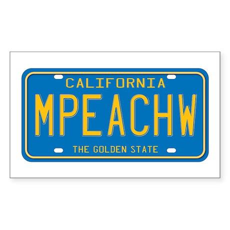 California MPEACHW Rectangle Sticker