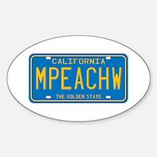 California MPEACHW Oval Decal