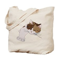 Calico Cat Sleeping Tote Bag