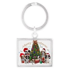 Cavalier King Charles Merry Christmas Keychains