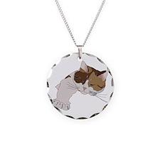 Calico Cat Sleeping Necklace
