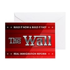 Build The Wall Greeting Cards