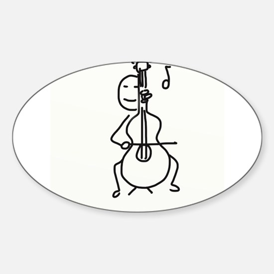 Palo Plays the Cello Decal