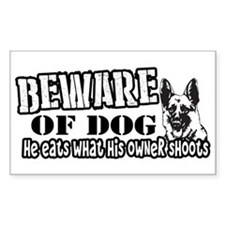 Beware of Dog Bumper Stickers