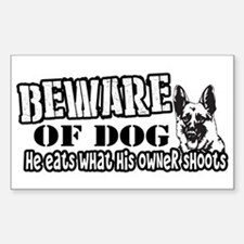 Beware of Dog Bumper Stickers