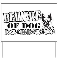 Beware of Dog Yard Sign
