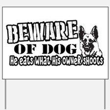 Beware of Dog Yard Sign