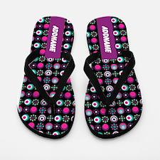 Preppy Chic Pattern Personalized Flip Flops