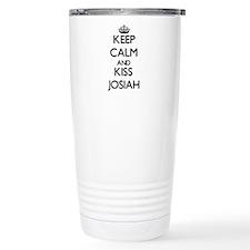 Keep Calm and Kiss Josiah Travel Mug