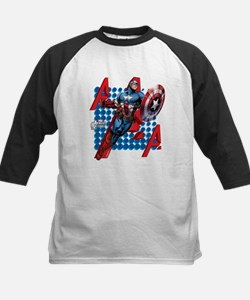 Captain America Kids Baseball Jersey