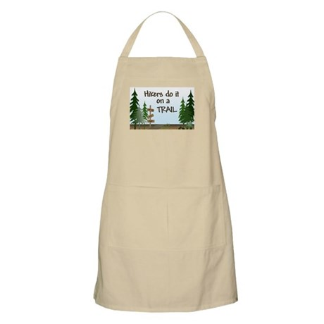 Hikers do it on a trail BBQ Apron