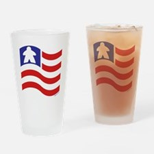 Meeple and Stripes Drinking Glass