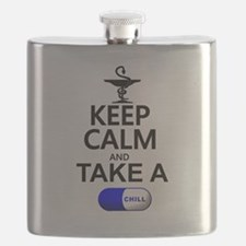 Keep Calm and Take a Chill Pill Flask