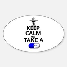 Keep Calm and Take a Chill Pill Decal