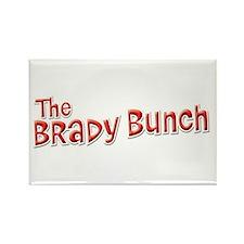 Retro Brady Bunch Logo Rectangle Magnet