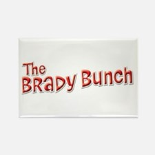 Retro Brady Bunch Logo Rectangle Magnet