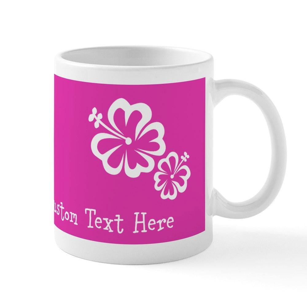 CafePress Bright Colorful Pink Neon Custom Text Mug