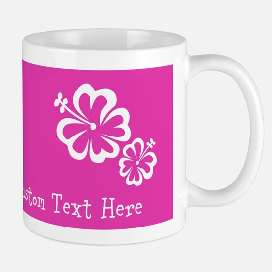 Bright Colorful Pink Neon Custom Text Mug