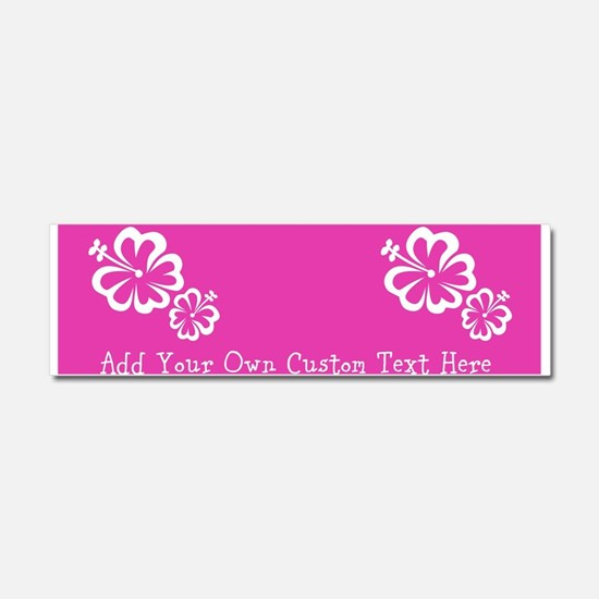 Bright Colorful Pink Neon Custom Car Magnet 10 x 3