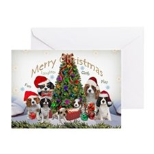 Cavalier King Charles Merry Greeting Cards