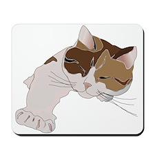 Calico Cat Sleeping Mousepad