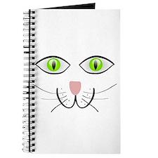 Cartoon Cat's Face Journal