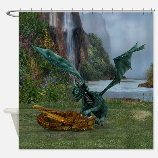 Dragon Hatchlings Shower Curtain
