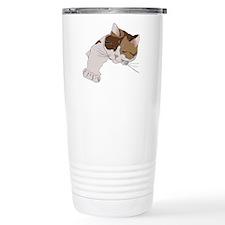 Calico Cat Sleeping Travel Mug