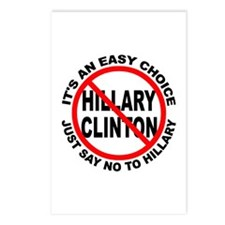 Say No to Hillary Clinton Postcards (Package of 8)