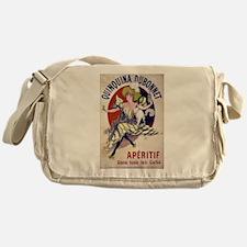 vintage alcohol Messenger Bag