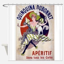 Vintage Alcohol Shower Curtain