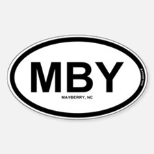 Mby - Mayberry Nc Sticker (oval)
