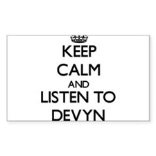Keep Calm and Listen to Devyn Decal