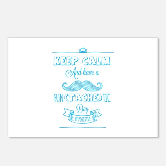 Keep calm and have a fun(tache)tic day! Postcards