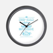 Keep calm and have a fun(tache)tic day! Wall Clock