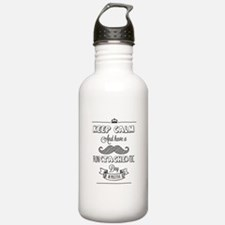 Keep calm and have a fun(tache)tic day! Water Bottle