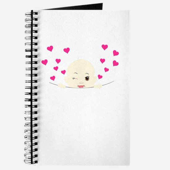 Cute Baby Winking Peekaboo Journal