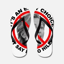 Say No to Hillary Clinton Flip Flops